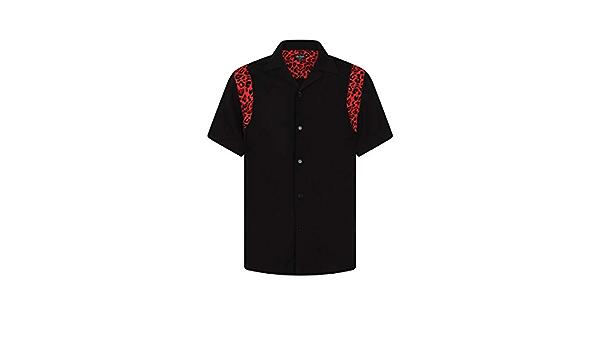 CHET ROCK Camisa Hombre Bolera Detalle Leopardo Ritchie Leo ...