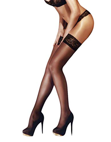 Lace Top Thigh Highs - THIGH HIGH Sheer Lace Top Silicone