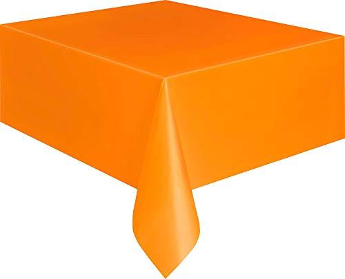 Mantel de Plastico - 2,74 m x 1,37 m - Naranja