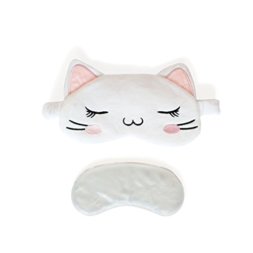 3D Cute Sleeping Cat Eye Mask with Reusable Gel Pad, Cold Hot SPA Therapy for Dry Eye and Puffy Eyes, Relaxing Your Eye - People Eyes Cat With