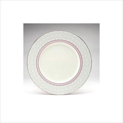 Noritake Aria Platinum Pink 9 inch Round Accent Plate