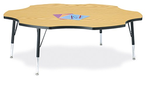 (Berries 6458JCT210 Six Leaf Activity Table, T-Height, 60