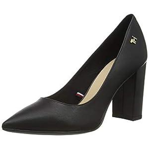 Tommy Hilfiger Feminine Leather High Heel Pump, Escarpins Femme