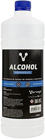 Vorago CLN-108 Alcohol Isopropílico 1 litro, Elimina Polvo y residuos, rápida evaporación