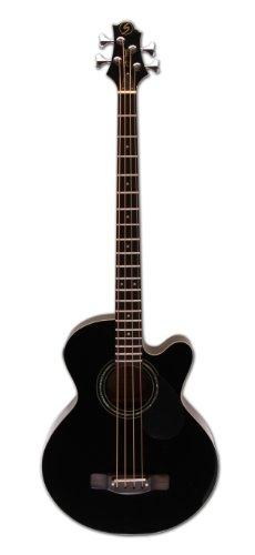 Greg Bennett Design Regency AB2 BLK 4-String Acoustic-Electric Bass Guitar, , Black by Greg Bennett Design