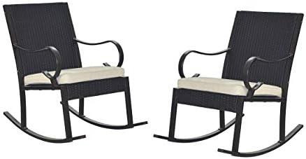 Great Deal Furniture Muriel Outdoor Wicker Rocking Chair