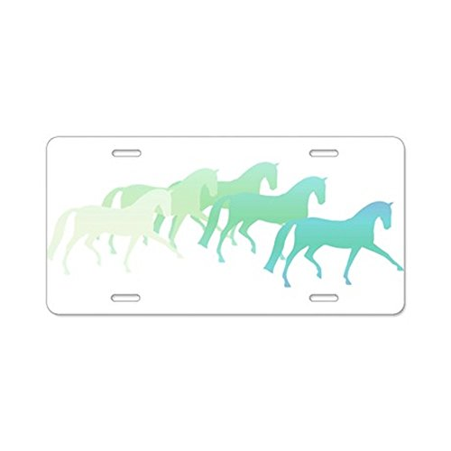 - CafePress - Extended Trot Greens Aluminum License Plate - Aluminum License Plate, Front License Plate, Vanity Tag