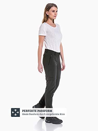 Schöffel Pants Ascona Zip Off, leichte und komfortable Damen Hose mit optimaler Passform, flexible Outdoor Hose für Frauen Damen, asphalt, 40 5