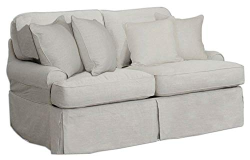 Amazon.com: slipcovered Loveseat en luz gris: Kitchen & Dining