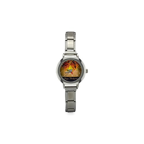 (Thanksgiving Day Gifts Maple Leaf Women's Italian Charm Watch )