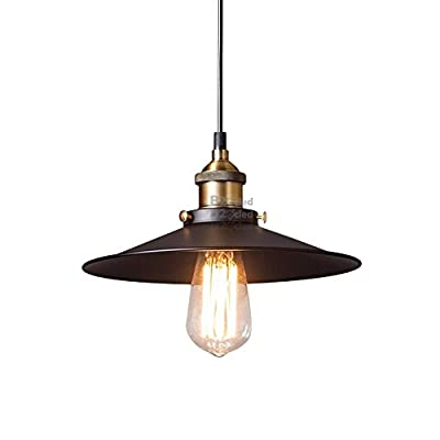 B2ocled Black Pendant Light, Edison Light Bulb American Village Lamps Hanging,Pendant Lighting