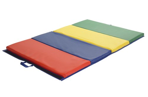 ECR4Kids SoftZone 4-Section Folding Panel Kids Tumbling Exer