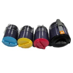 (Clearprint 106R01271, 106R01272, 106R01273, 106R01274 Compatible Color Toner Set for Xerox Phaser 6110, 6110MFP printers)