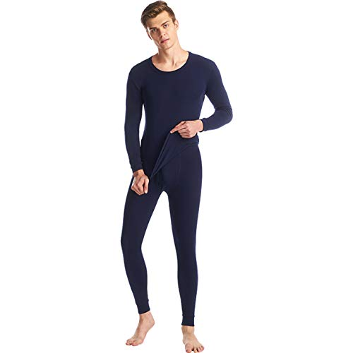SANQIANG Mens 100% Cotton Thermal Underwear Ultra Soft Warm Long Johns Set Top and Bottom