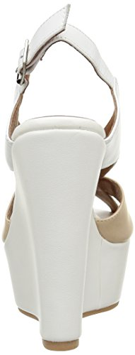 White nude Leather Zuecos Para Campbell Mujer Jeffrey Mariel wEqYPWx0