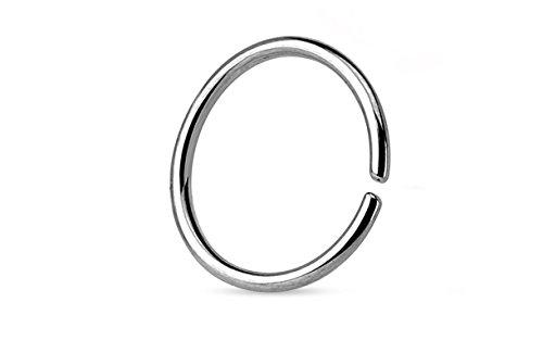 18G Stainless Steel Seamless Hoop Ring (1/4