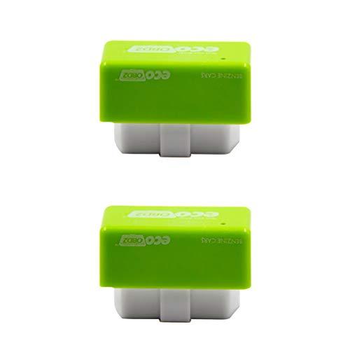 CMrtew Gasoline Car Fuel Economy Drive Box,2 x Plug and Drive EcoOBD2 Fuel Saving Device New Best Tool Save 15% Fuel