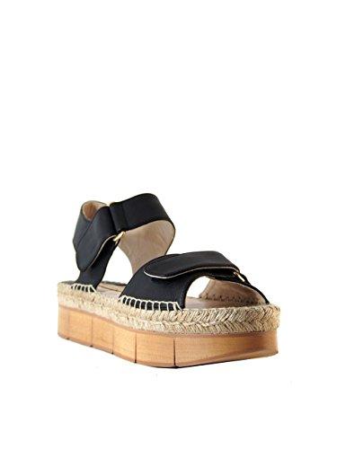Sandalias Piel de para negro mujer Palomitas vestir de wdRt8OqI