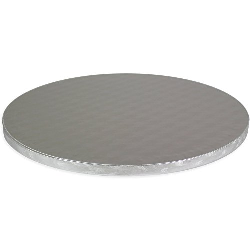 PME Round Cake Board 0.4 in Thick, 10-Inch, Silver