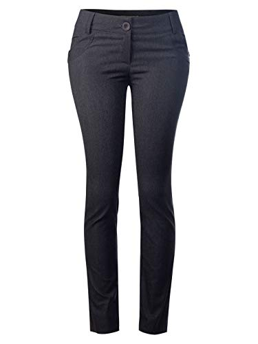Design by Olivia Women's One Button Comfy Bootcut Curvy Fit Trouser Pants Charcoal S