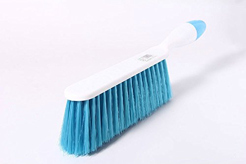 CoolHome Counter Duster Bed Sheets Debris Cleaning Brush Soft Bristle Clothes Desk Sofa Duster Small Particles Hair Remover (Blue)