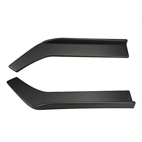 (Godyluck 2PCs Universal Black Car Front Body Shovel Deflector Spoiler Lip Splitter Diffuser Bumper Canard Body Shovels Car Styling )