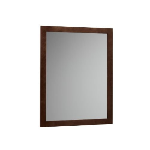 RONBOW 24'' x 31'' Contemporary Solid Wood Frame Rectangle Bathroom Vanity Mirror in Dark Cherry 600124-H01 by Ronbow