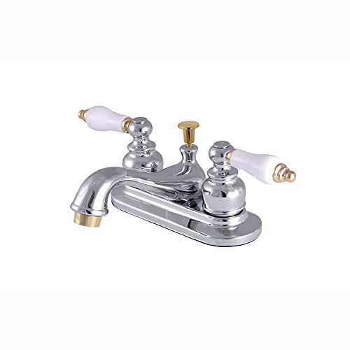 - Kingston Brass KB604B 4-Inch Centerset Lavatory Faucet, Polished Chrome/Polished Brass