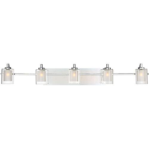Five Light Bath Fixture - Quoizel KLT8605CLED Kolt Modern Vanity Bath Lighting, 5-Light, LED 22.5 Watts, Polished Chrome (6