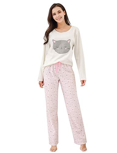 Richie House Women's Soft and Warm Fleece Two-Piece Set RHW2773-B-M