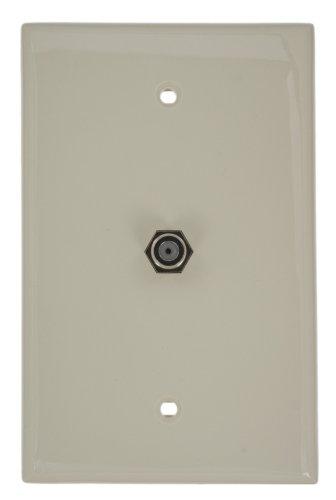- Leviton 40539-MT Midsize Video Wall Jack, F Connector, Light Almond