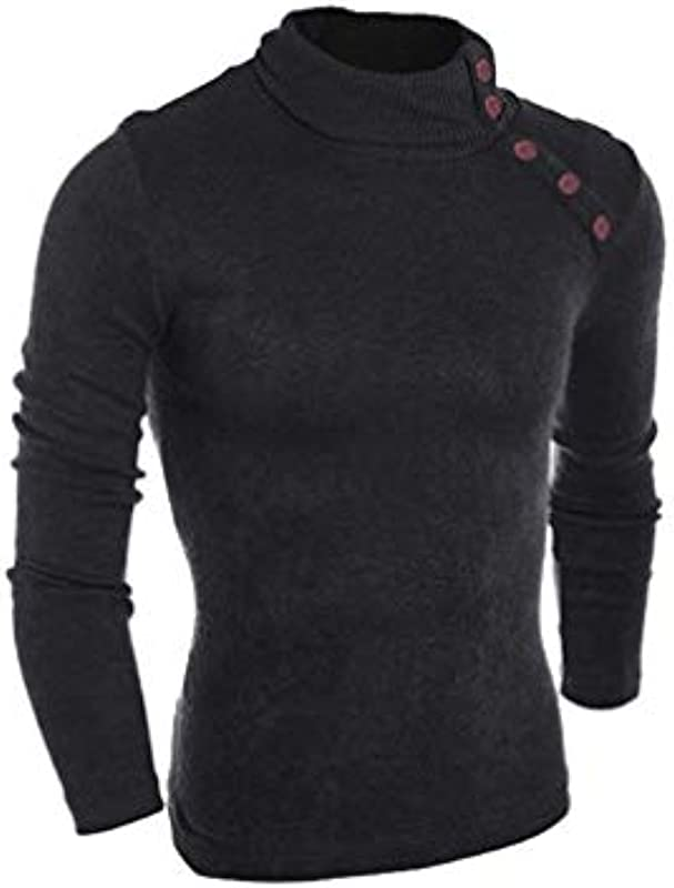Męski sweter wiosna, jesień, Knit, wysoki kołnierz, casual, nowoczesny, swobodny, elegancki, normalny lakier, swetr, dzianina, długi rękaw, sweter z dzianiny: Odzież