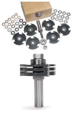 """MLCS Stackable Slot Cutter Router Bit Set with 1/2"""" Arbor"""