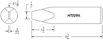 HEXACON WELLER REPLACEMENT SOLDER TIP  MODEL WL9-6 NEW CROSSES TO A WELLER PTBB6