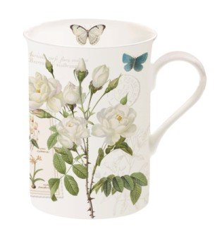 Easy Life 329NATU Coffret 1 MUG 25CL en Bone China, Porcelaine, Multicouleur, 10,5x7,5x10,5 cm 329 NATU