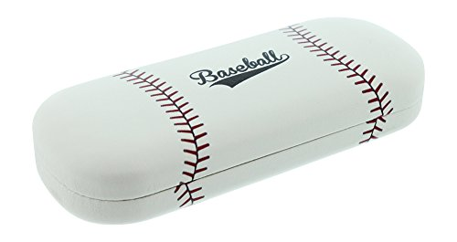 Hard Shell Eyeglass Case For Boys & Girls, Kids Small Glasses Case, Baseball by Cal Optix