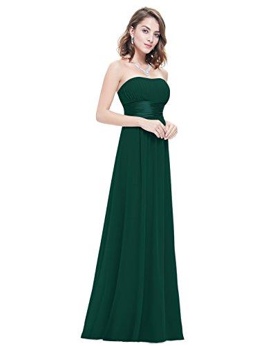 lungo Verde Empire donna Pretty sera Ever da da 09955 vestito sulle Scuro spalle libero P7x00d5q