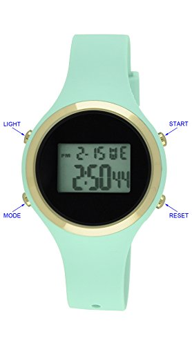 Moulin Ladies Pastel Color Digital Jelly Watch Mint #03158-76625