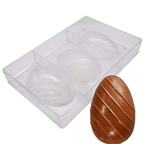 Molde de 3 cavidades 3D para pascua, huevos de pascua, dulces, chocolate,