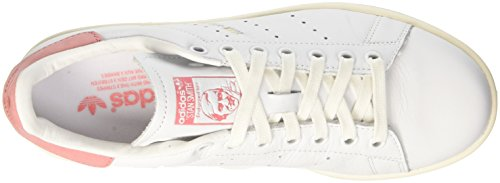Adidas Unisex Adulto-stan Smith Scarpe Da Basket Bianco (ftwwht / Ftwwht / Raypnk)