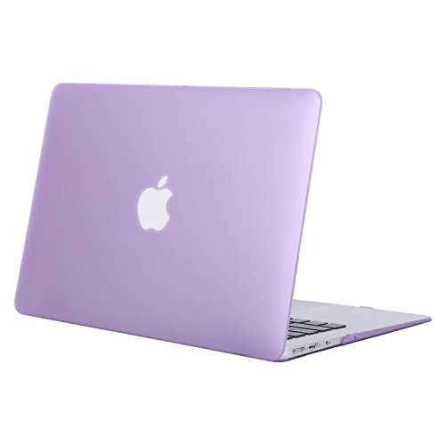 MOSISO MacBook Air 13 Case (Models: A1369 & A1466, Older Version 2010-2017 Release), Plastic Hard Shell Case Cover Only Compatible MacBook Air 13 Inch, Light - Plastic Case Purple