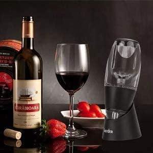 Chang Aireador de vino, decantador de vino con soporte, decantador de vino prémium con efecto venturi, decantador de vino tinto set de aireador rápido