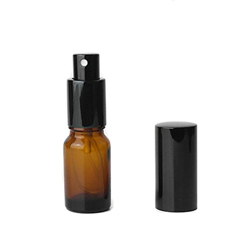 (3Pcs 5ml Glass Spray Bottles Fine Sprayer Bottle Perfume Bottles Pressing Bottle Container Organizer Jar Pot Case Vial(Amber))