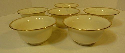 (Antique Lenox Exquisite Soup Bouillon Liner Inserts #1201 22K Gold Trim Set of 6 )