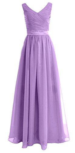 a Senza linea Donna ad maniche Vestito Lavender MACloth x1O7w8nPqt