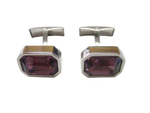 Purple Crystal Cufflinks