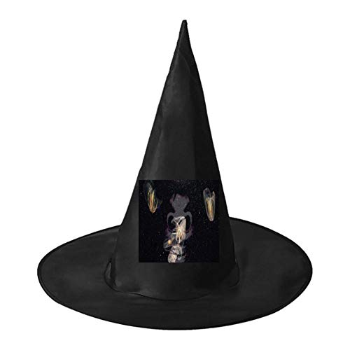 Jellyfish in Mysterious Stars Unisex Halloween Witch Role Playing Wizard Hat for Costume Accessory