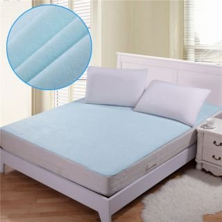 STOP N SHOPP Waterproof Hypoallergenic Mattress Protector for King Size Bed (Blue, 72x78-inch)
