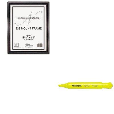 KITNUD10570UNV08861 - Value Kit - Nu-dell EZ Mount Document Frame (NUD10570) and Universal Desk Highlighter (UNV08861)