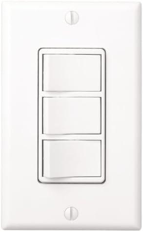Broan 77DW Three Switch, Four Function Control-Heater/Fan/Light,  Night-Light, White - - Amazon.comAmazon.com